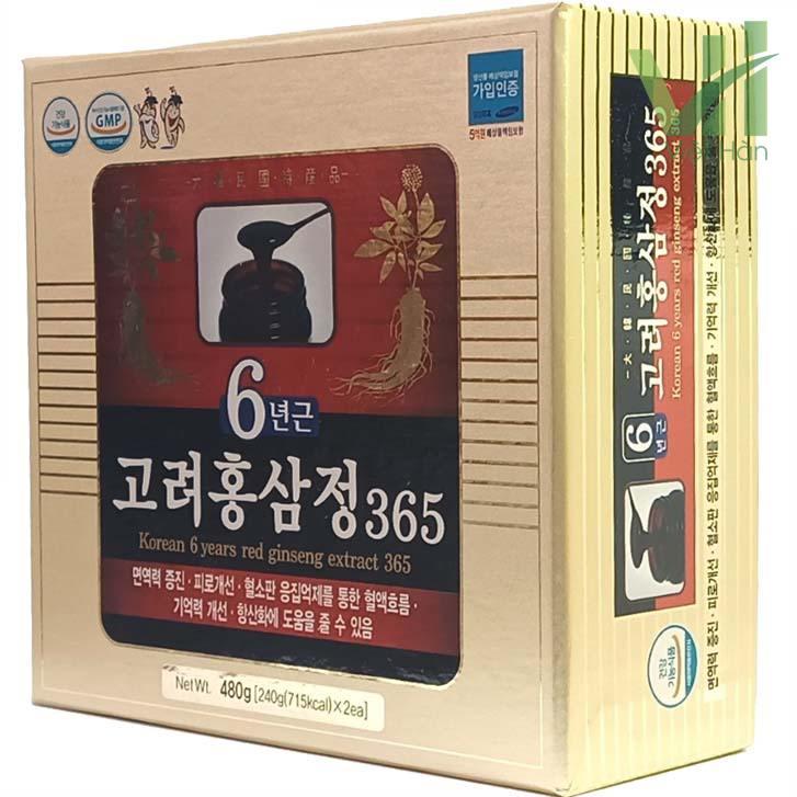 Góc sản phẩm cao hồng sâm 365 Hàn Quốc - Hộp 240g x 2 lọ