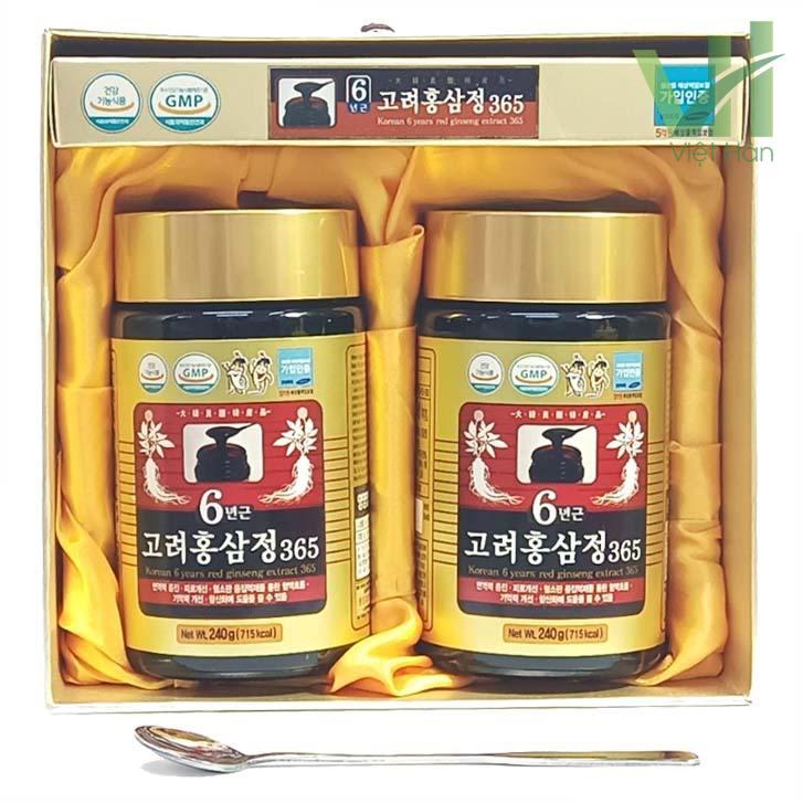 Sản phẩm cao hồng sâm 365 Hàn Quốc - Hộp 240g x 2 lọ