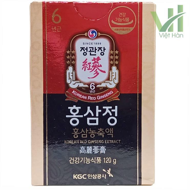 Mặt trước sản phẩm cao hồng sâm Hàn Quốc KGC 120g