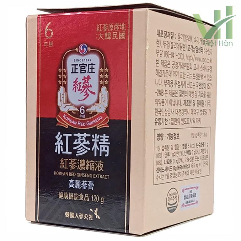 Góc sản phẩm cao hồng sâm Hàn Quốc KGC 120g