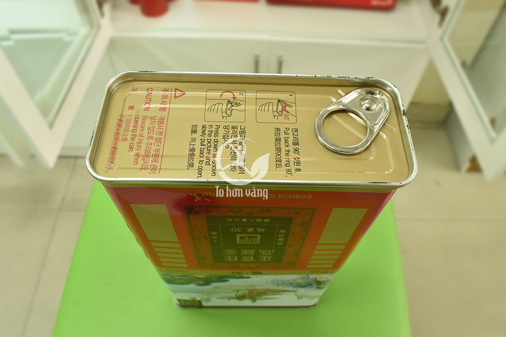 Hình ảnh nắp mở của hồng sâm khô 150 gram hàn quốc