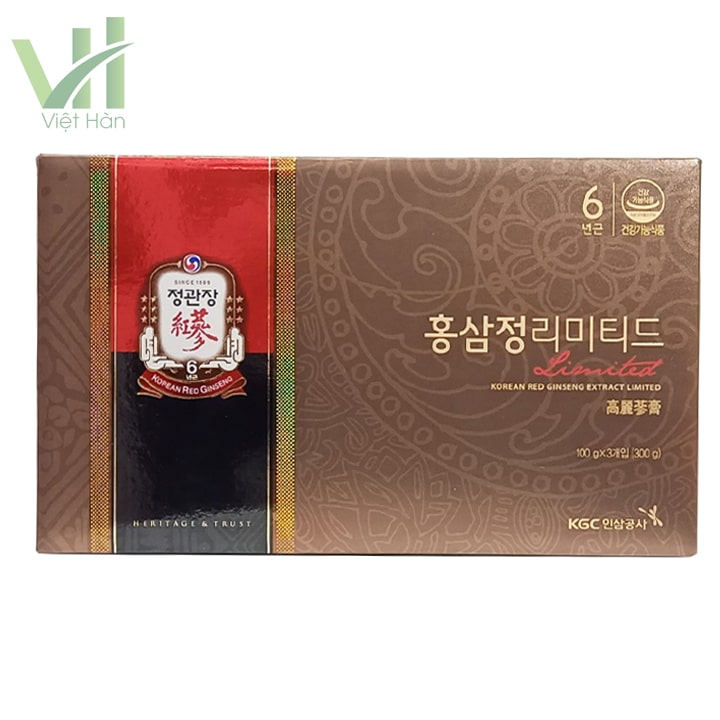 <em>Mặt trước sản phẩm cao địa sâm Cheong Kwang (KGC) Hàn Quốc</em>