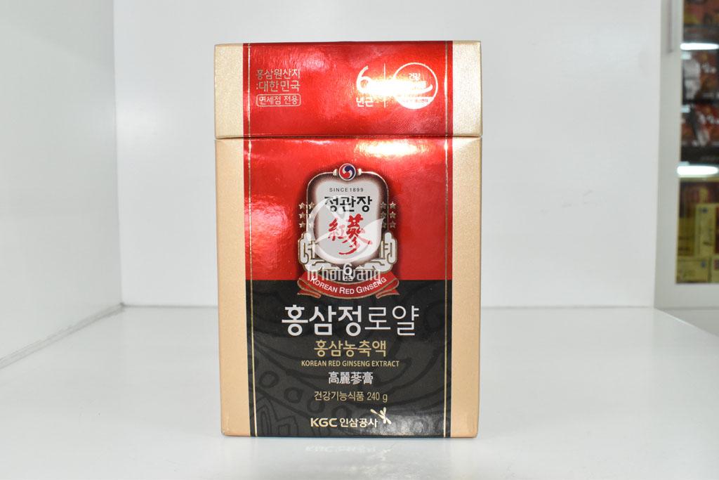 Hình ảnh bao quát về hộp cao hồng sâm KGC 240 Royal Plus