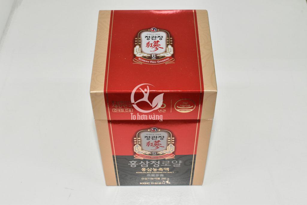Hình ảnh bao quát về hộp cao hồng sâm hàn quốc 240 gramRoyal Plus