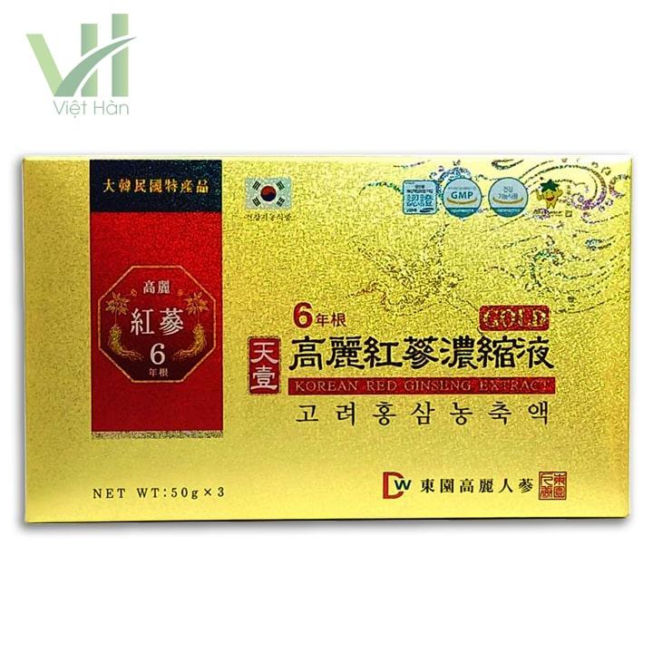 Mặt trước sản phẩm cao hồng sâm - Dongwon 50g x 3lọ