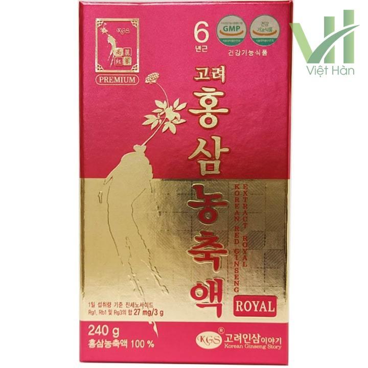 Mặt trước sản phẩm cao hồng sâm Hàn Quốc - 240 gram KGS