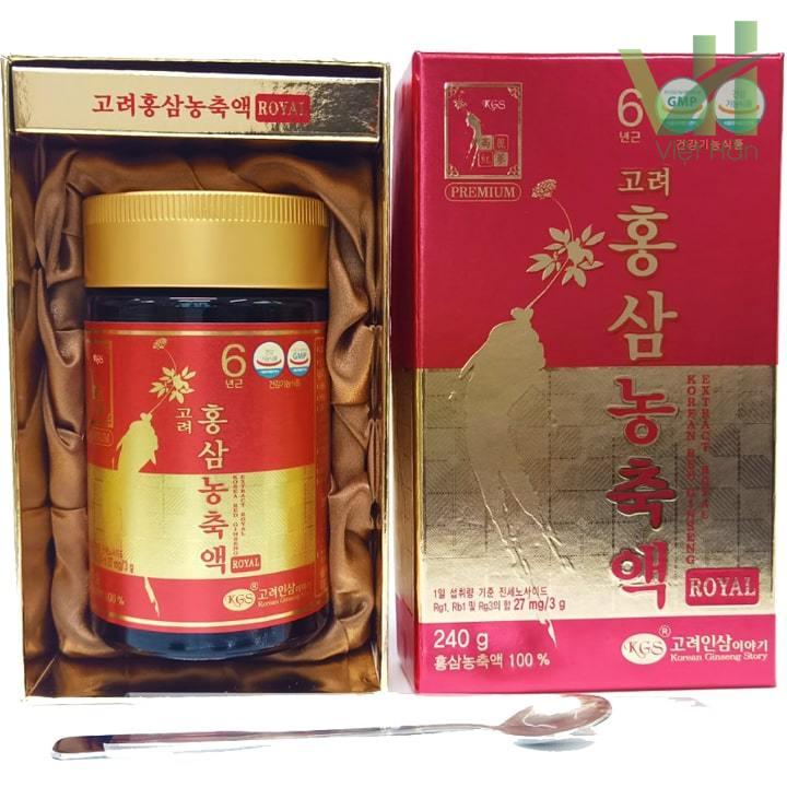 Bên trong sản phẩm cao hồng sâm Hàn Quốc - 240 gram KGS