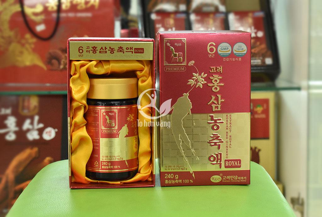 Hình ảnh chi tiết của hộp cao hồng sâm Hàn Quốc KGS 240 gram