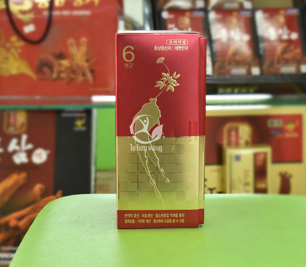 Hình ảnh góc bên hông của hộp cao hồng sâm Hàn Quốc KGS 240 gram