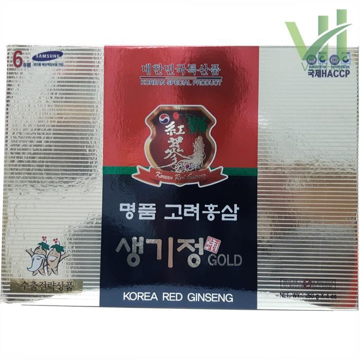 Mặt trước sản phẩm cao hồng sâm Hàn Quốc 250g x 4 lọ - 6 năm tuổi