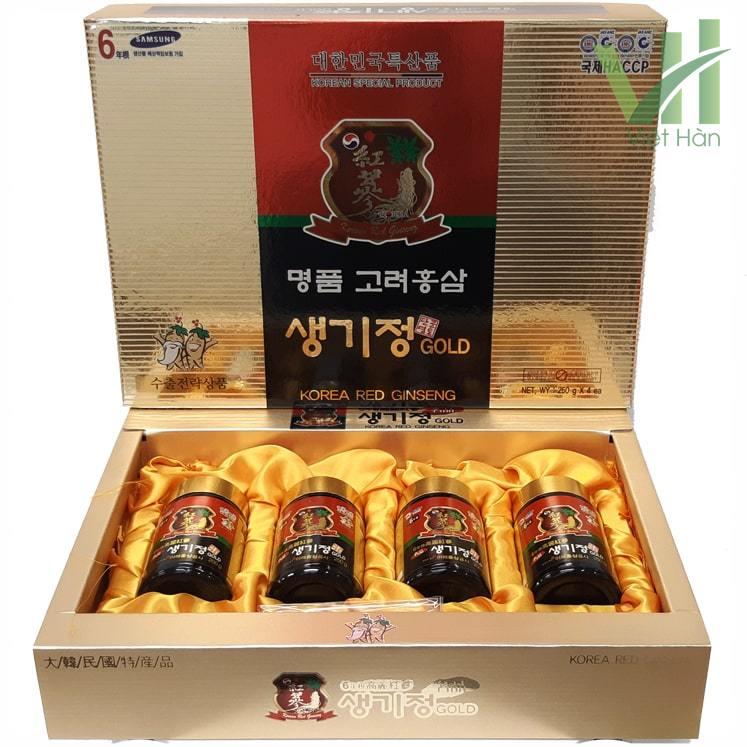 Sản phẩm cao hồng sâm Hàn Quốc 250g x 4 lọ - 6 năm tuổi