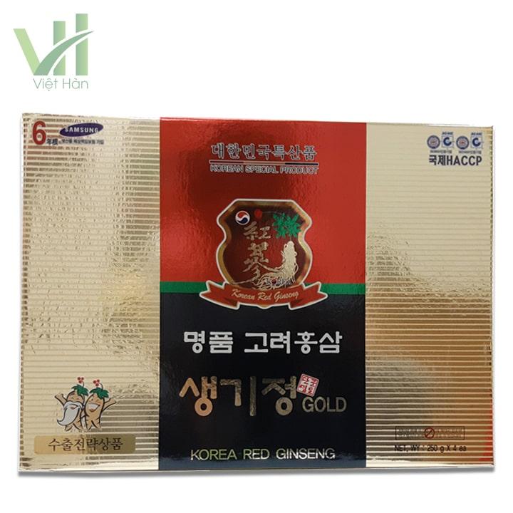 <em>Mặt trước sản phẩm cao hồng sâm Hàn Quốc 250g x 4 lọ - 6 năm tuổi</em>