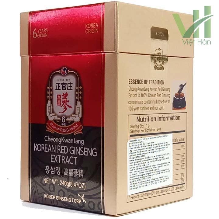 Góc sản phẩm cao hồng sâm Hàn Quốc chính phủ - KGC 240g