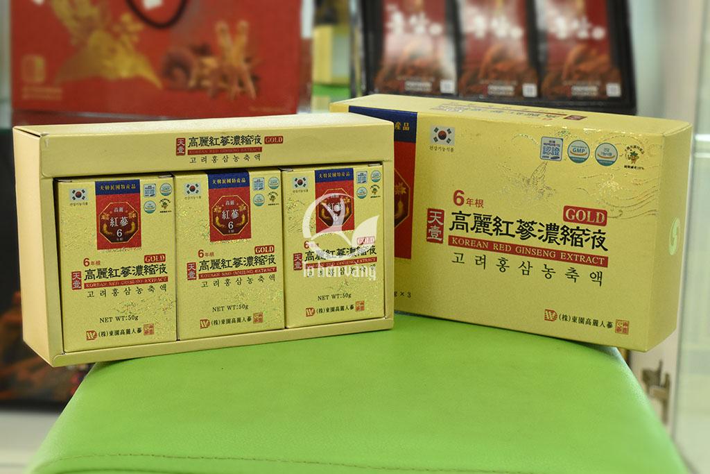 Hình ảnh chi tiết hộp Cao Hồng Sâm Hàn Quốc Dongwon 50 gam x 3 lọ