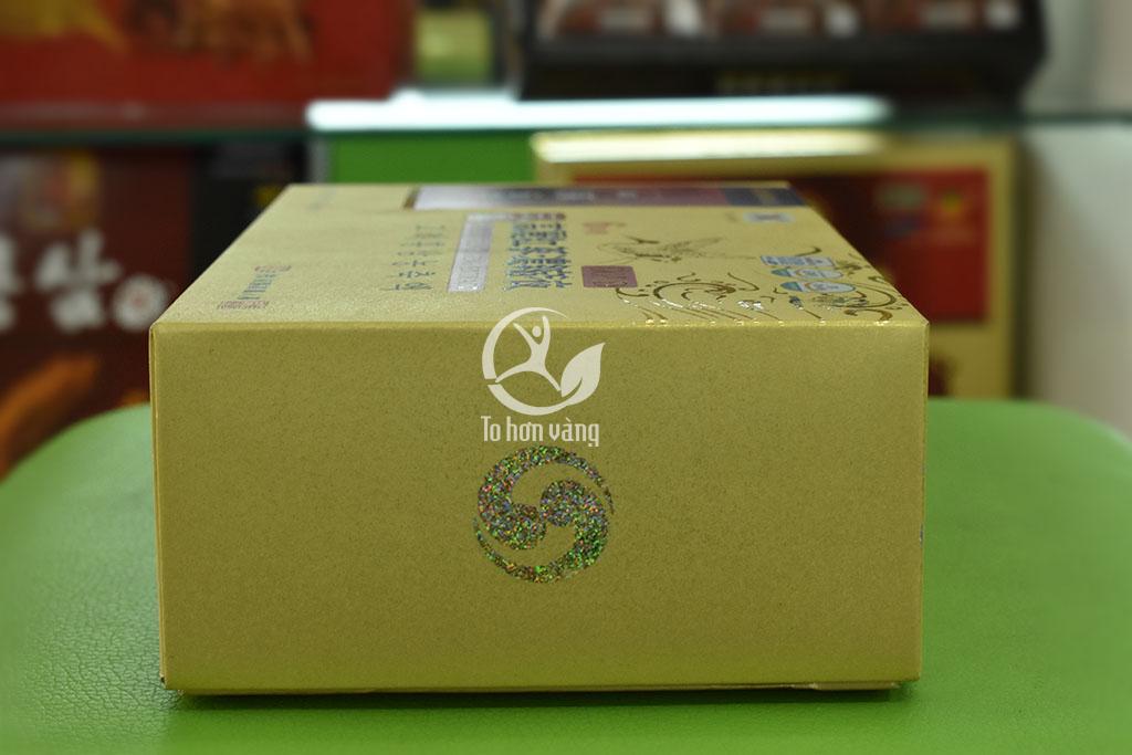 Hình ảnh bên hông hộp Cao Hồng Sâm Hàn Quốc Dongwon 50 gam x 3 lọ
