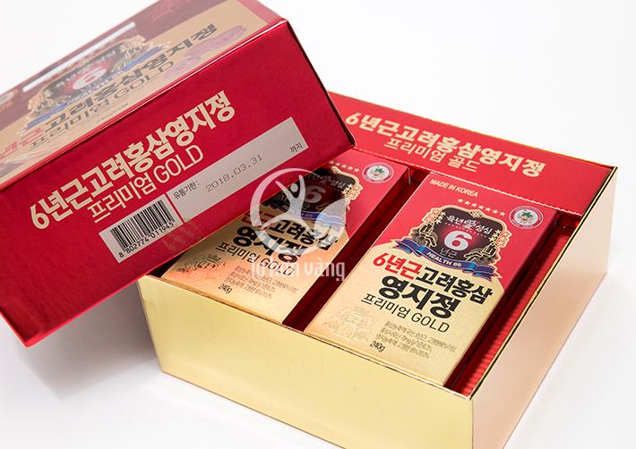 Hình ảnh hộp Cao Hồng Sâm Linh Chi Hàn Quốc 240g x 2 Lọ