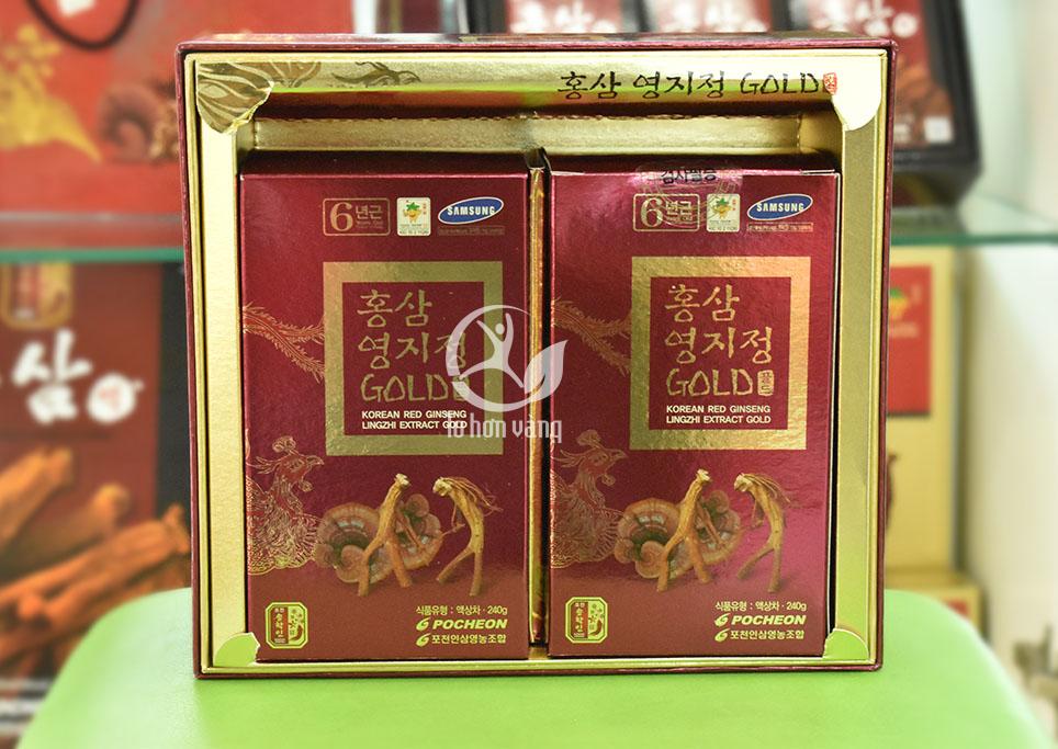 Hình ảnh bên trong hộp Cao hồng sâm linh chi 240 gram x 2 lọ
