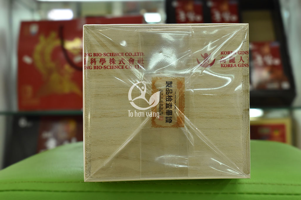 Hình ảnh tem hộp Cao Linh Chi Thượng Hạng Hàn Quốc