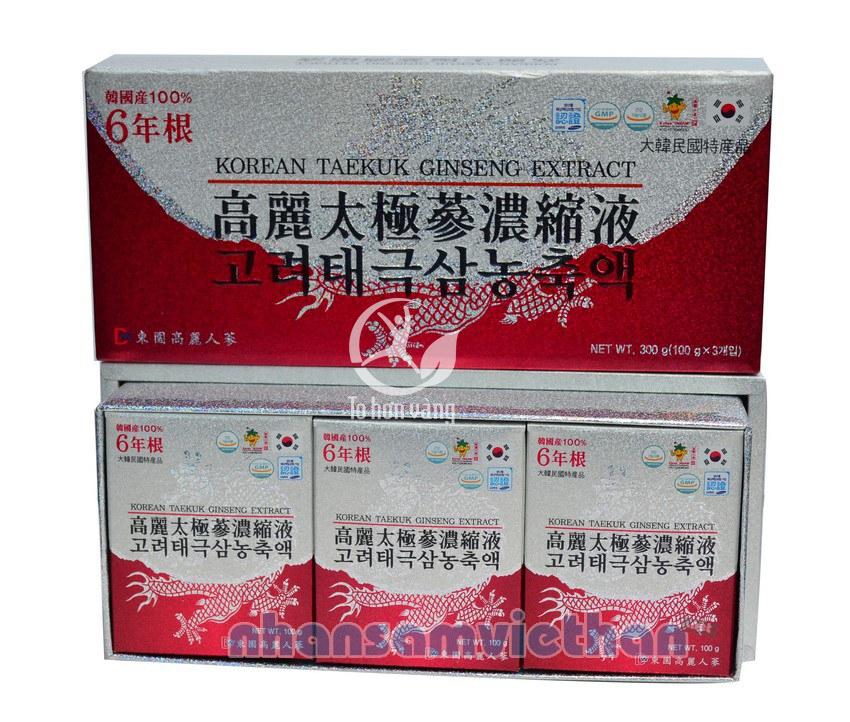 Hình ảnh tổng quan Cao Thiên Sâm Hàn Quốc 100 gam x 3 lọ