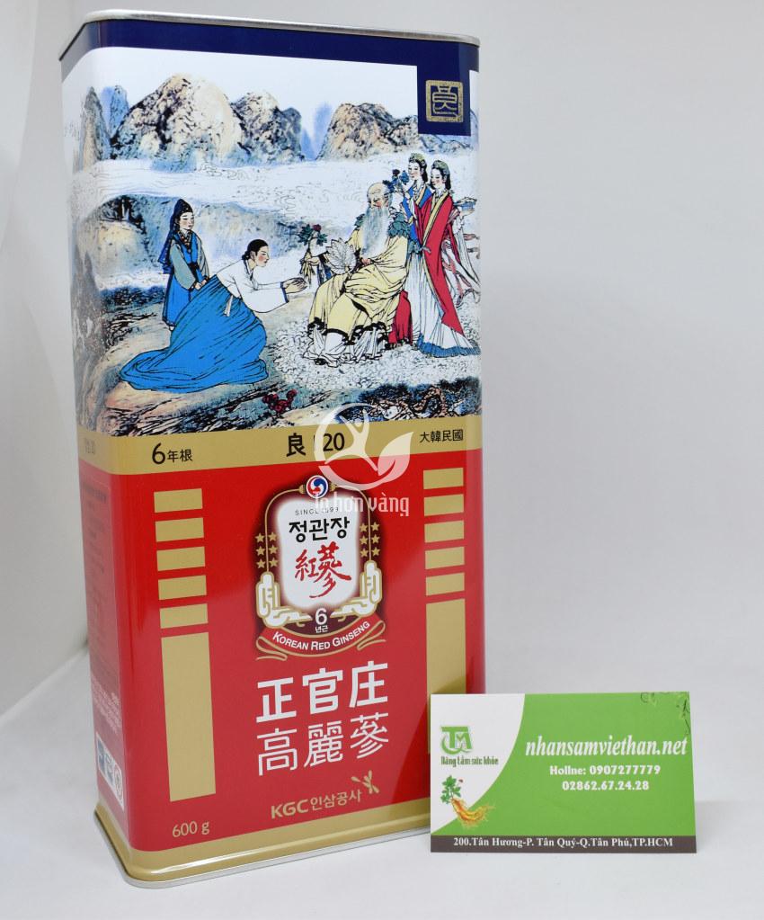 Hồng sâm củ khô Hàn Quốc KGC 600 gram