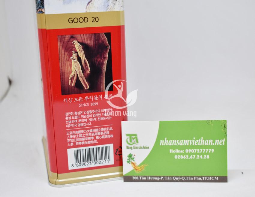 Hình ảnh mã vạch và thông tin sản phẩm hồng sâm củ khô chính phủ hàn quốc