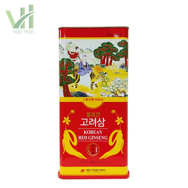 <em>Mặt trước sản phẩm hồng sâm khô Hàn Quốc Deadong 600g</em>