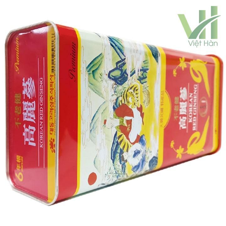Góc sản phẩm hồng sâm khô Hàn Quốc Deadong 600g