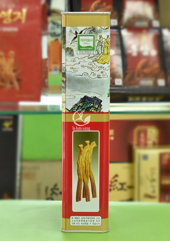 Hình ảnh bên hông hồng sâm khô Hàn Quốc 300 gram Punghi