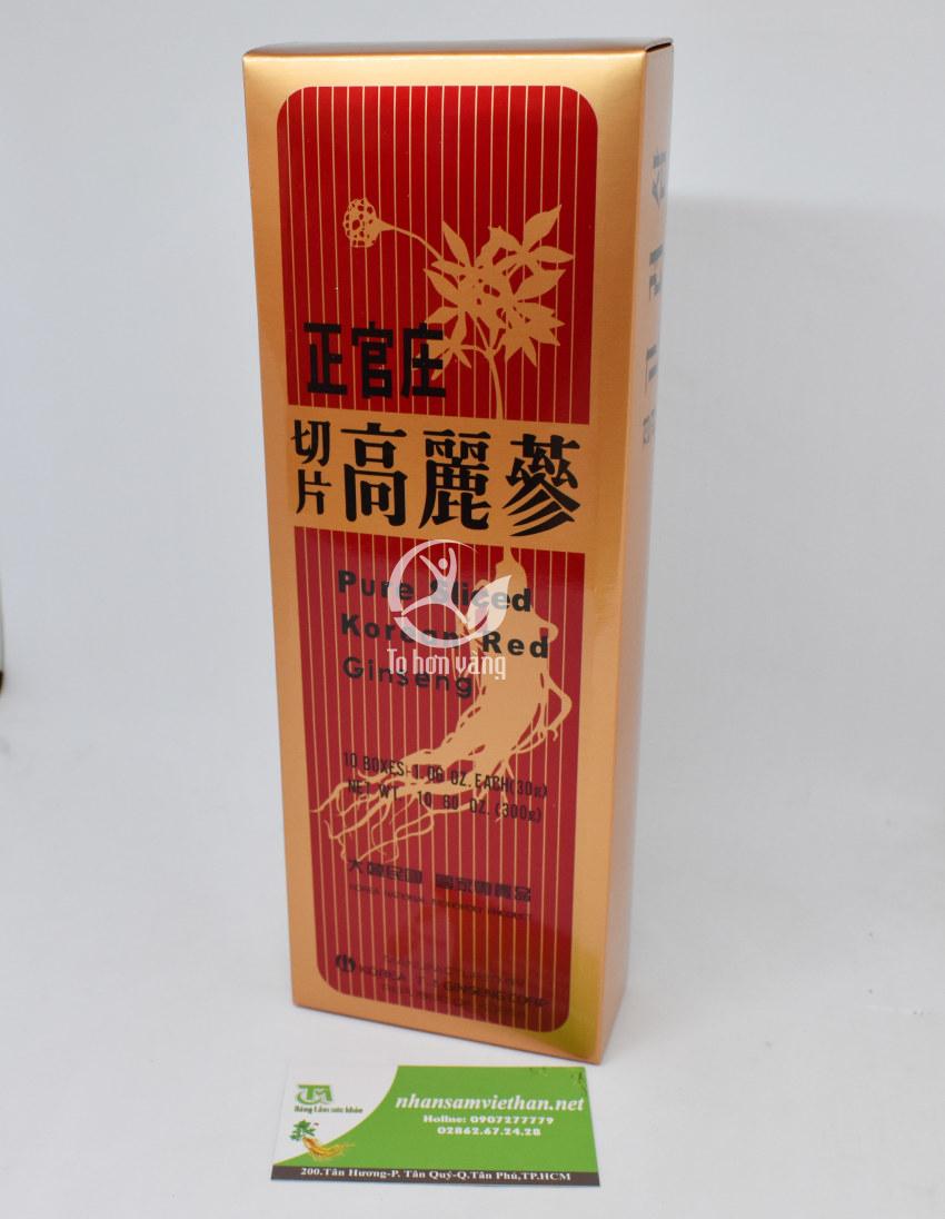 Hình ảnh hộp Hồng Sâm Lát Khô Tẩm Mật Ong - KGS 300g Nguyên Chất