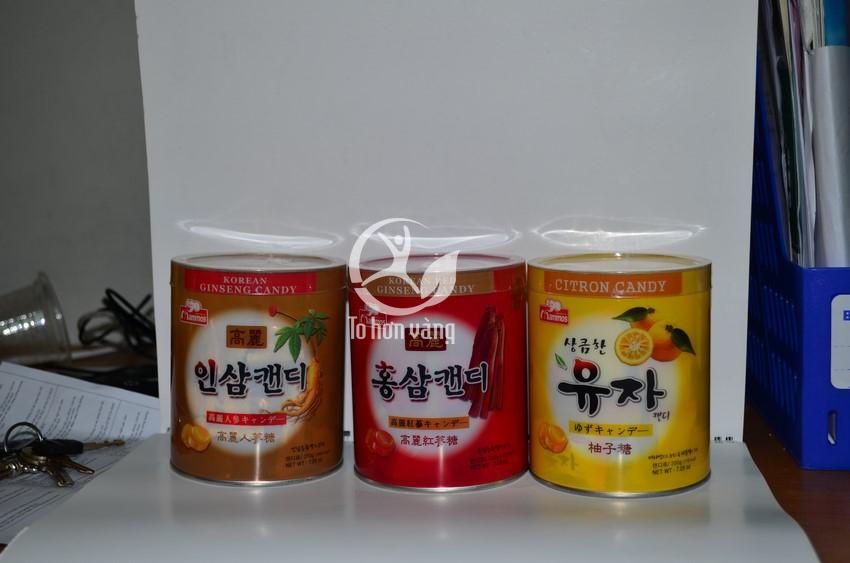 Hình ảnh 3 hủ Kẹo Cao Cấp 600g Hàn Quốc trong 1 hộp