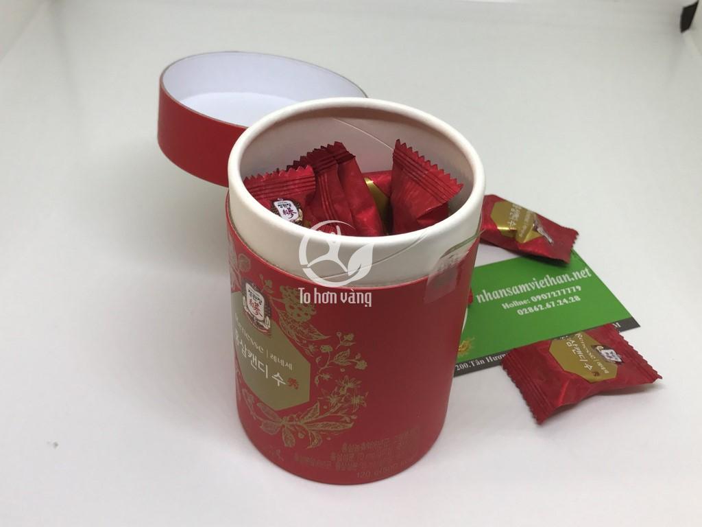 Hình ảnh bên trong hộp Kẹo Hồng Sâm 120g Chính Phủ Kgc