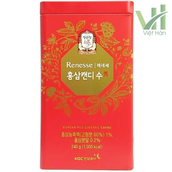 Mặt trước sản phẩm kẹo hồng sâm Hàn Quốc cao cấp KGC 240g