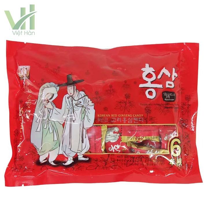 Mặt trước sản phẩm kẹo hồng sâm Hàn Quốc ông bà lão 200g