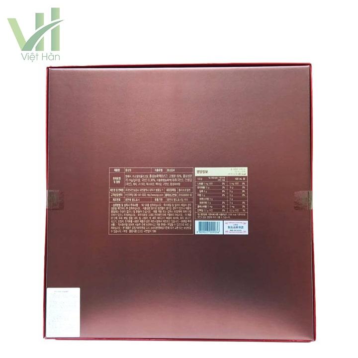 Mặt sau sản phẩm nước hồng sâm Cheong Kwan Jang 30 gói