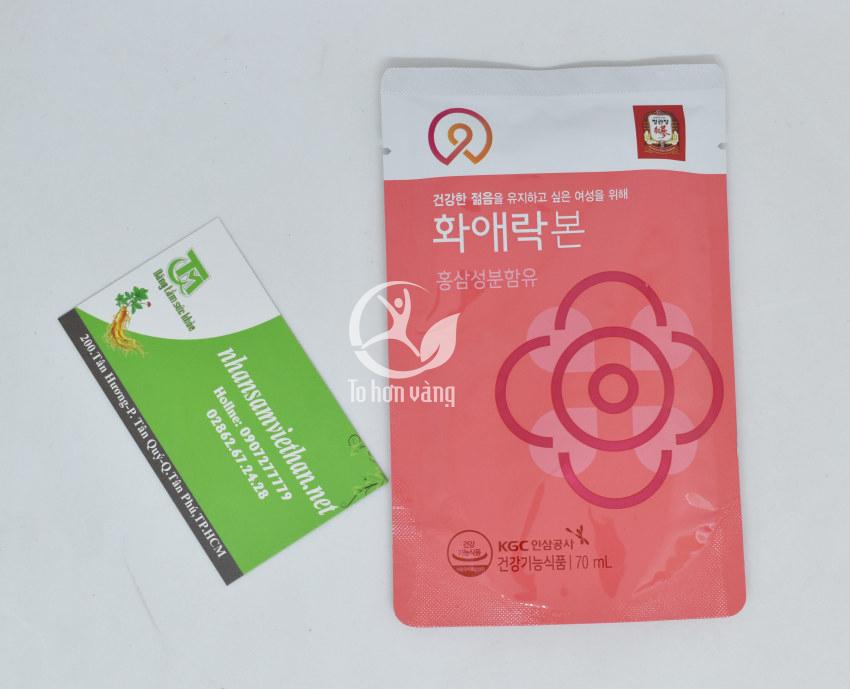 Hình ảnh gói Nước Hồng Sâm Dành Cho Nữ Giới KGC