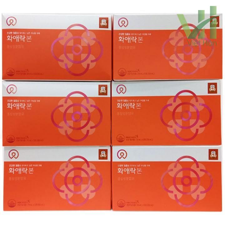 Bên trong sản phẩm Nước hồng sâm dành cho nữ giới KGC