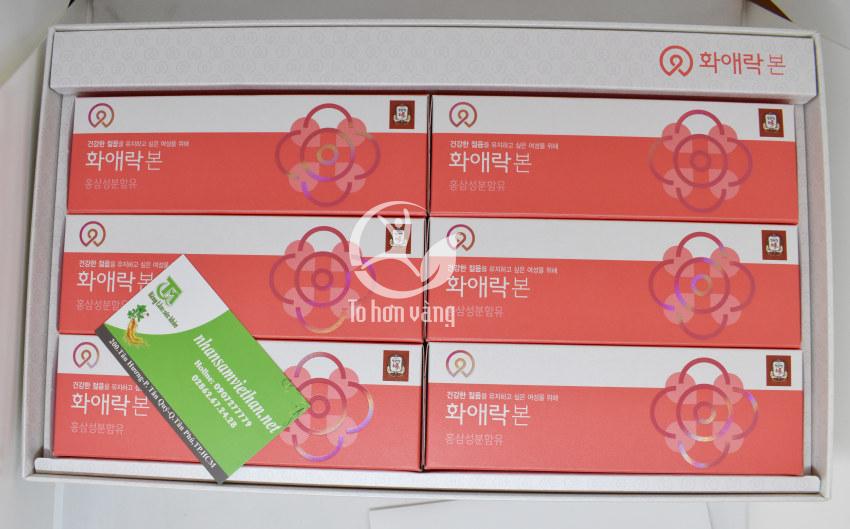 Hình ảnh bên trong chi tiết hộp Nước Hồng Sâm Dành Cho Nữ Giới KGC