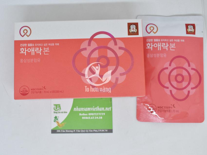 Hình ảnh chi tiết hộp Nước Hồng Sâm Dành Cho Nữ Giới KGC