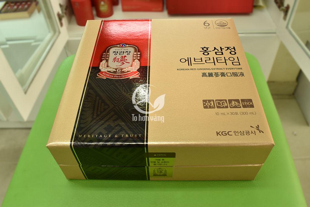 Hình ảnh tem và hộp của Nước Hồng Sâm Hàn Quốc KGC 30 Gói