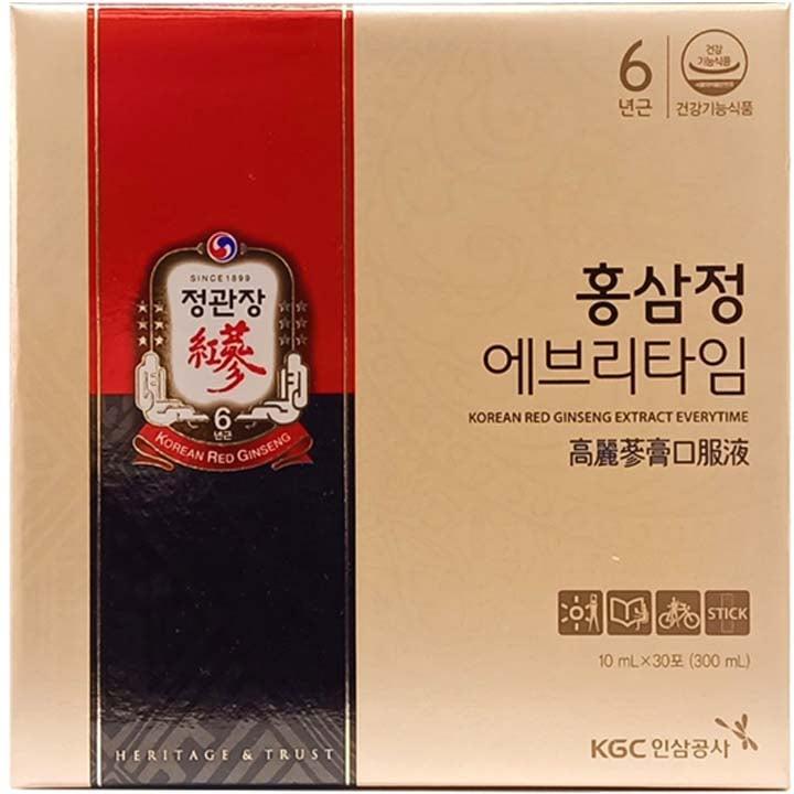 Mặt trước sản phẩm nước hồng sâm Hàn Quốc KGC 30 gói