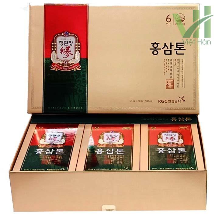 Bên trong sản phẩm nước hồng sâm KGC Hàn Quốc - 50ml x 30 gói
