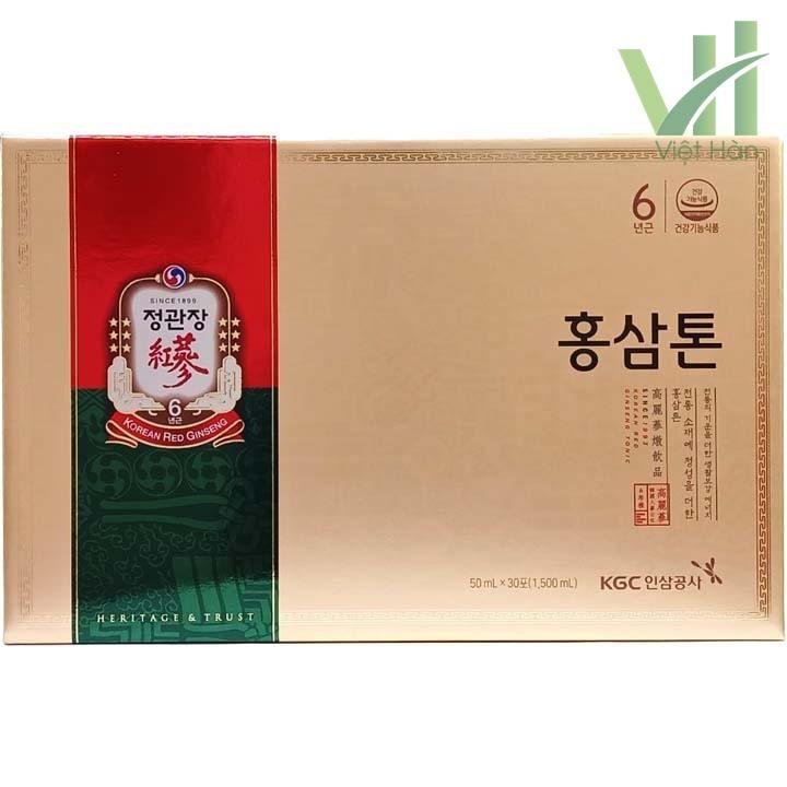 Mặt trước sản phẩm nước hồng sâm KGC Hàn Quốc - 50ml x 30 gói