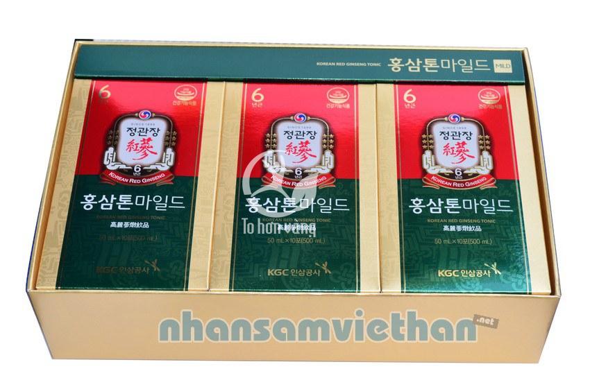 Hình ảnh chi tiết hộp nước hồng sâm KGC Cheong Kwan bên trong