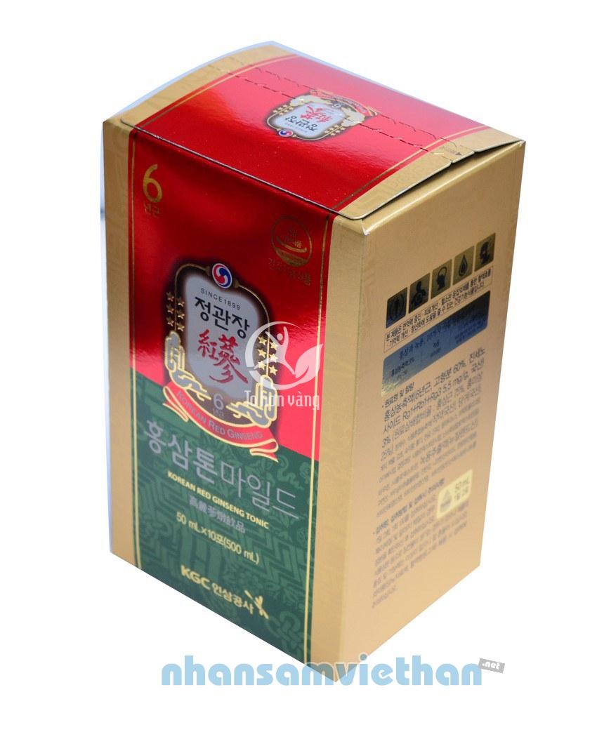 Hình ảnh hộp hồng sâm KGC Cheong Kwan bên trong