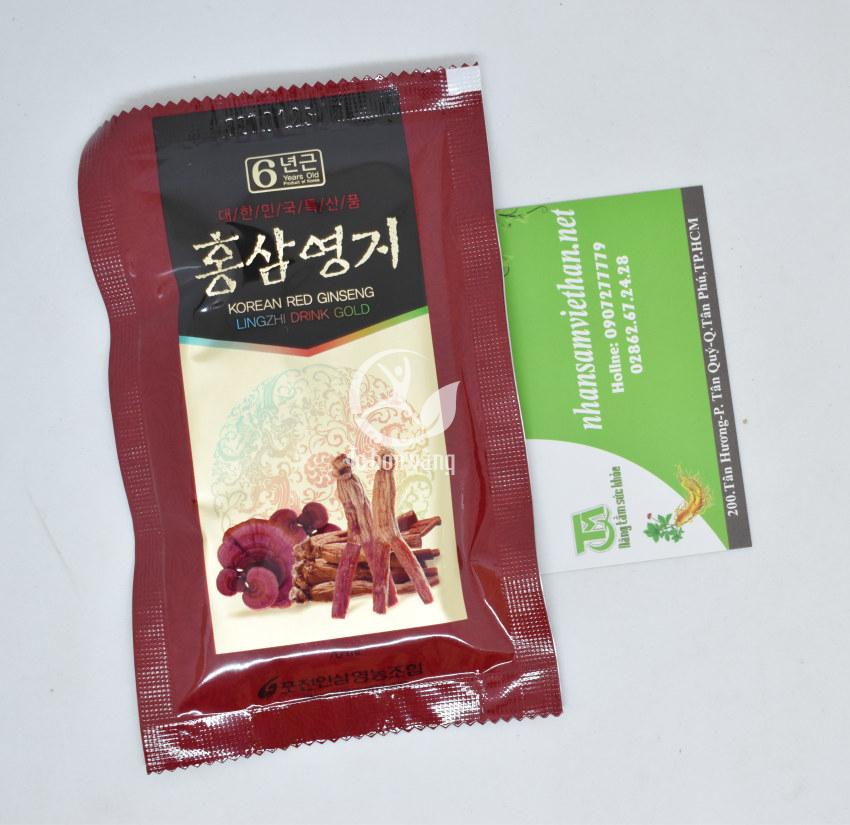 Hình ảnh gói Nước hồng sâm linh chi Pocheon 70ml x 30 gói