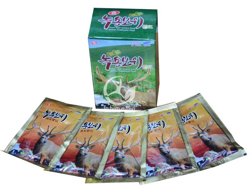 Hình ảnh chi tiết gói Nước Hồng Sâm Nhung Hươu Hàn Quốc