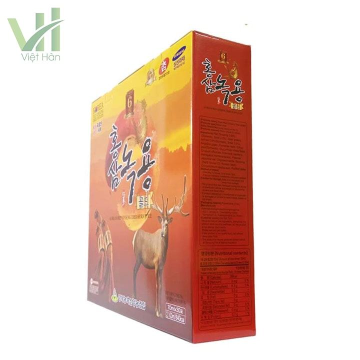 Góc sản phẩm nước hồng sâm nhung hươu Hàn Quốc