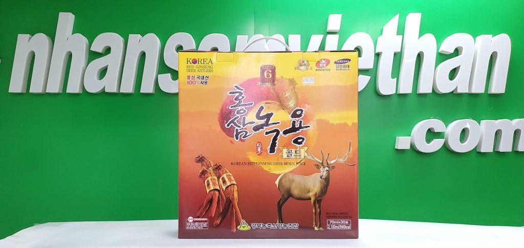 Hình ảnh: Nước hồng sâm nhung hươu Hàn Quốc