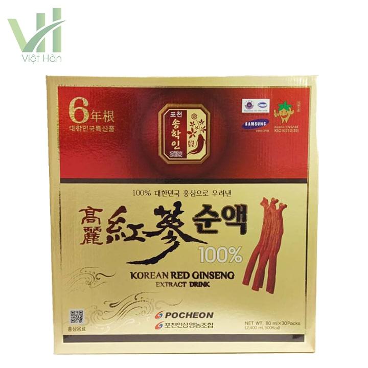 Mặt trước sản phẩm nước hồng sâm Pocheon 80ml x 30 gói