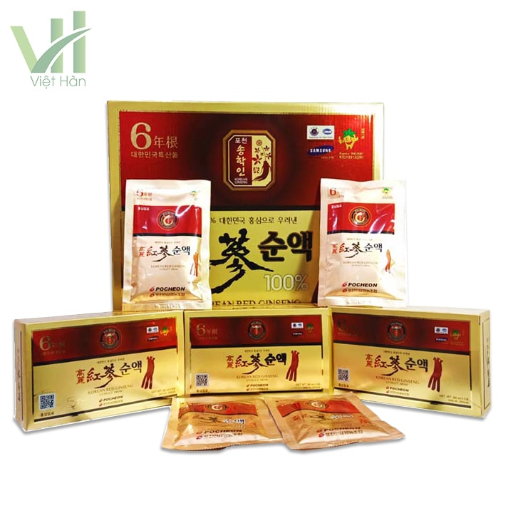 Sản phẩm nước hồng sâm Pocheon 80ml x 30 gói